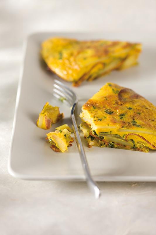 Chorizo-Tortilla, zubereitet mit der KitchenAid Küchenmaschine