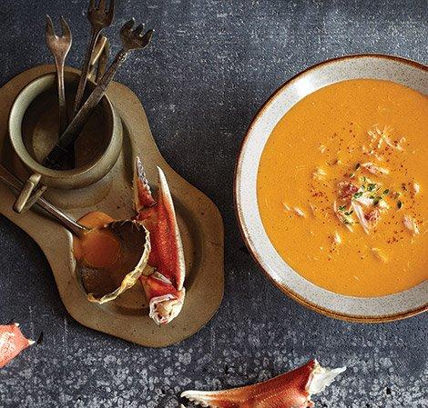 Krabben-Suppe mit rotem Pfeffer Vitamix