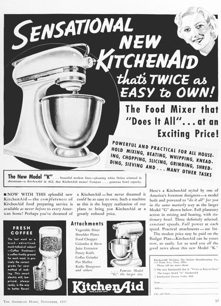 KitchenAid historic advertisement