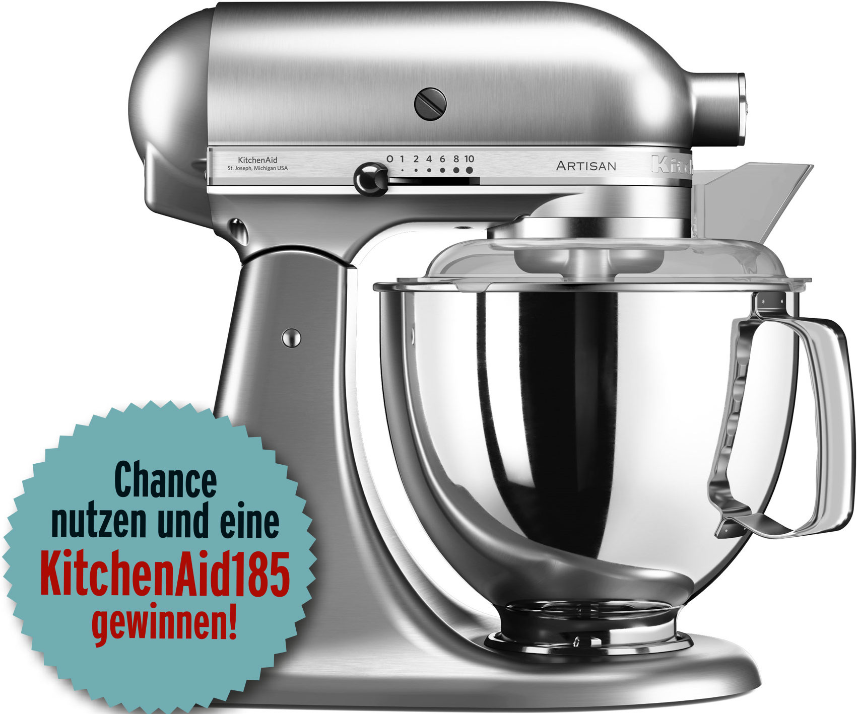 gewinnen sie die neue kitchenaid artisan 185 k chenmaschine k chen fee. Black Bedroom Furniture Sets. Home Design Ideas