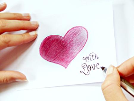Valentinstag Geschenke Liebesbrief