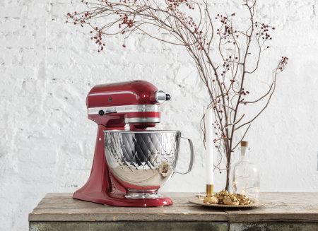 KitchenAid Farben gehämmerter Edelstahl
